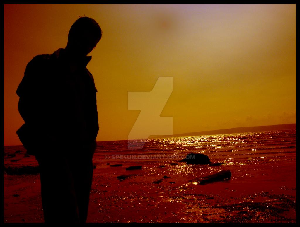 Filey Beach Silhouette by Spe4un