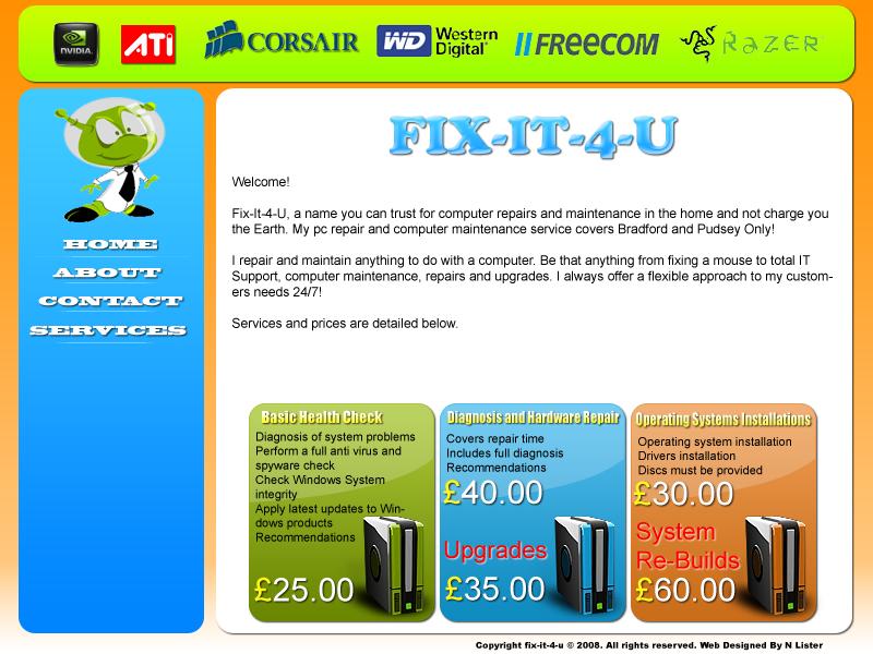 Fix-It-4-U Web Design by Spe4un