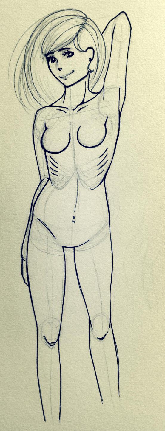 realistic- female anatomy practice by Nekouhai on DeviantArt