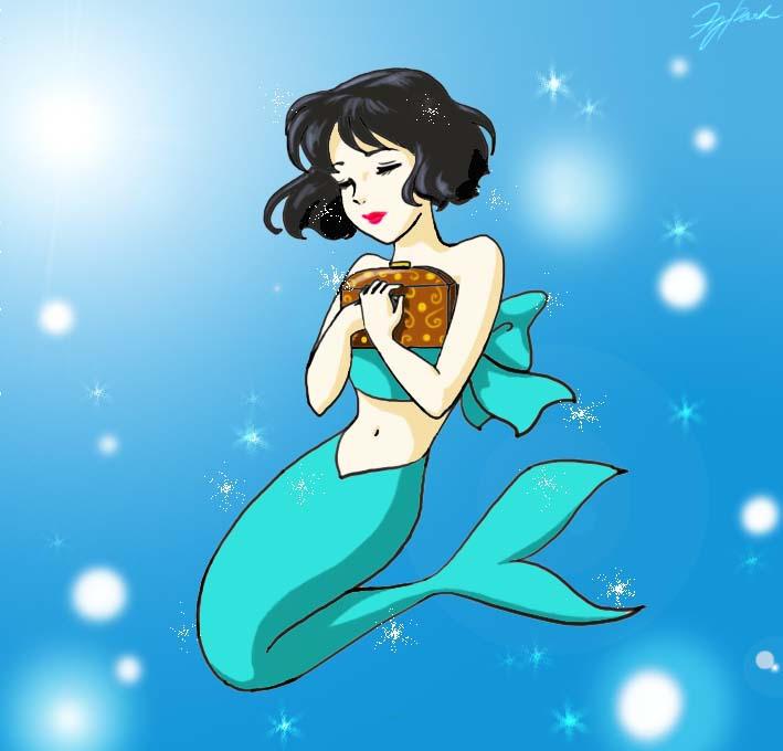 A Black haired Mermaid by tilywendy on DeviantArt