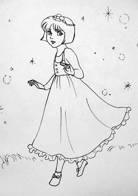Peter Pan And Wendy Kiss Coloring Pages Wendy in fox s peter pan byPeter Pan And Wendy Kiss Coloring Pages