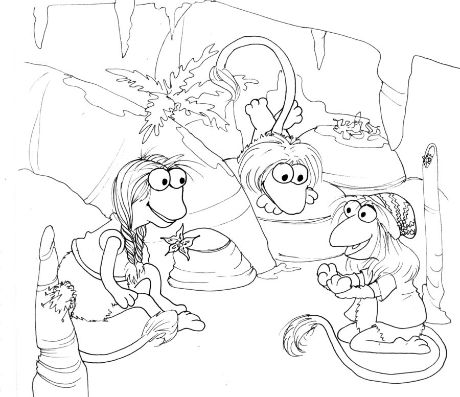 fragle rock coloring pages - photo#7