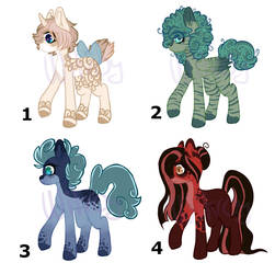 Pony Adopts (OPEN - 80P) by WitTheOc