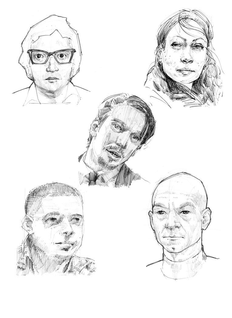 Ball Point Pen Portraits by rawREN
