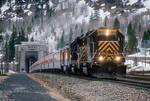 The Rio Grande Ski Train Travels Out Of The Tunnel