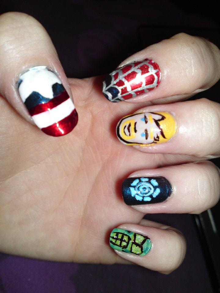 18. Marvel Nails by megs2606 on DeviantArt