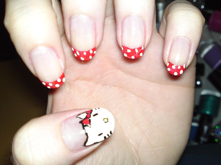 17 Hello Kitty Nails By Megs2606 On Deviantart