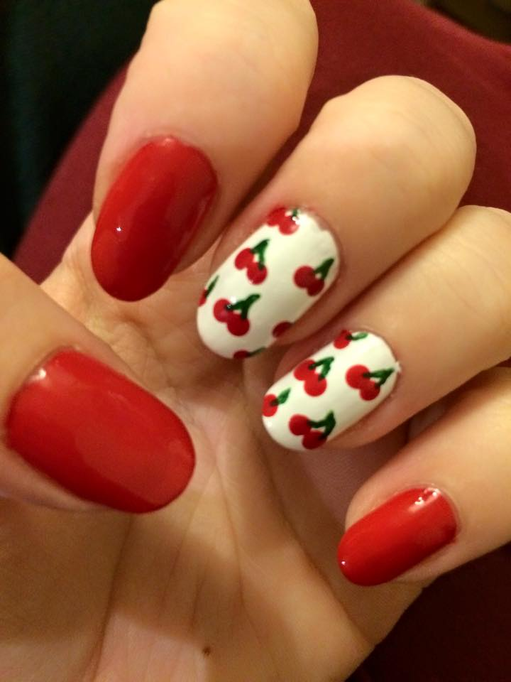 Cherry Nails by megs2606 ... - Cherry Nails By Megs2606 On DeviantArt