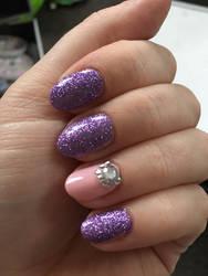 Purple Sparkles and Diamante