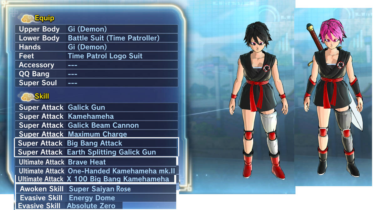 Xenoverse 2 character Chini by skyarmyrecurit1000 on DeviantArt