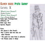 Kamen Rider Proto Gamer