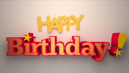 Happy birthday 3D typo