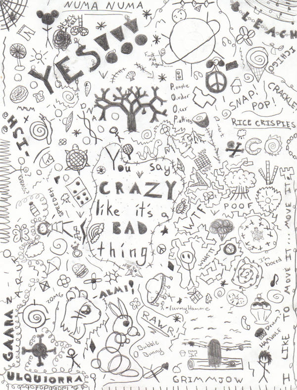 Random Doodle Page by Sarahpawz on DeviantArt