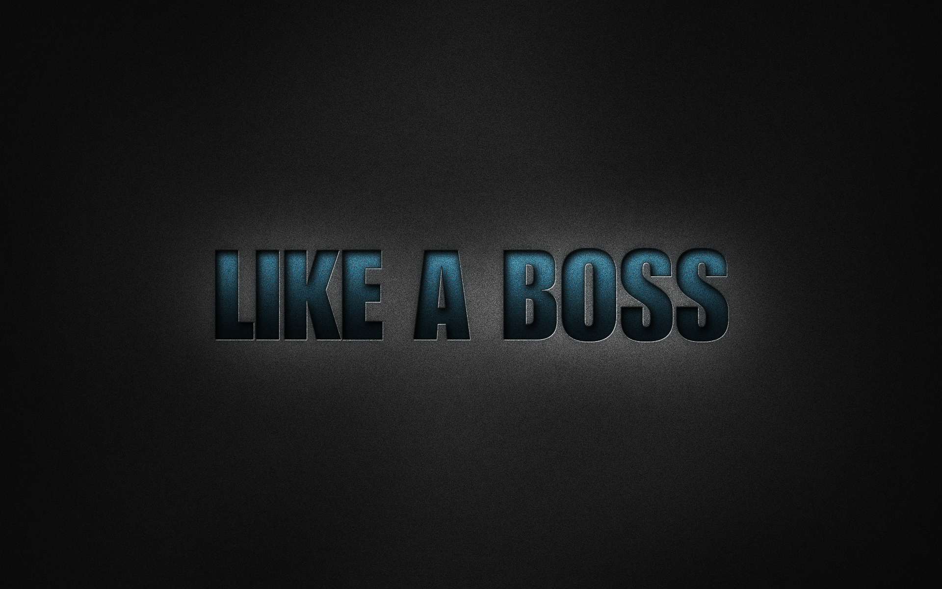 Like A Boss by RanzQLike A Boss Logo Wallpaper