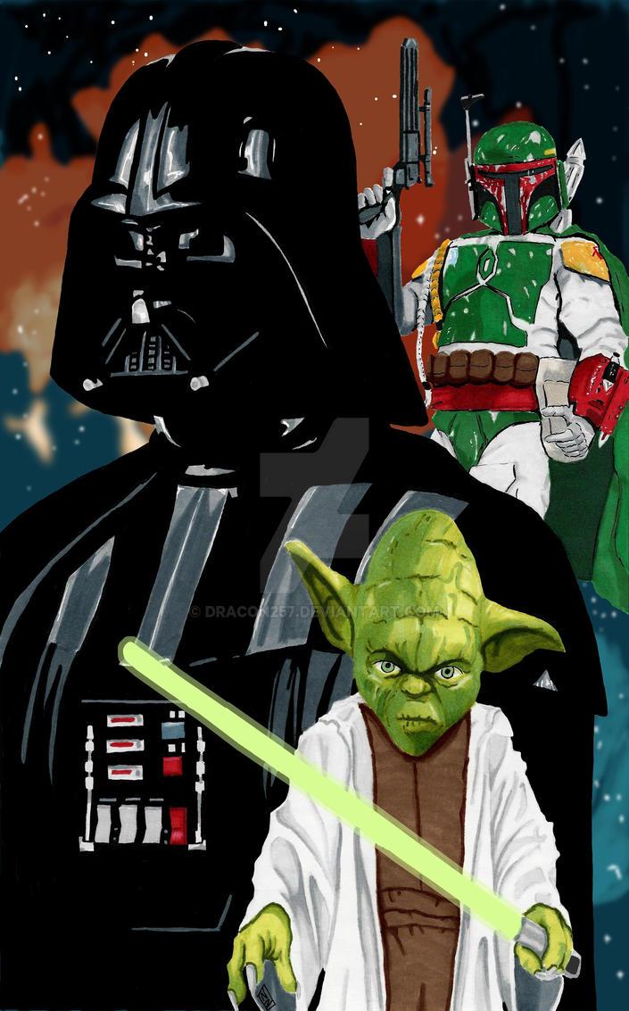 Vader Yoda Boba Fett by dracon257