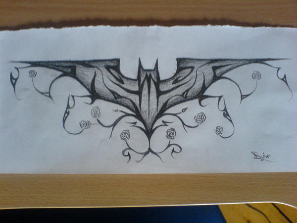 Tribal or Floral Batman Tattoo by ryderman on DeviantArt