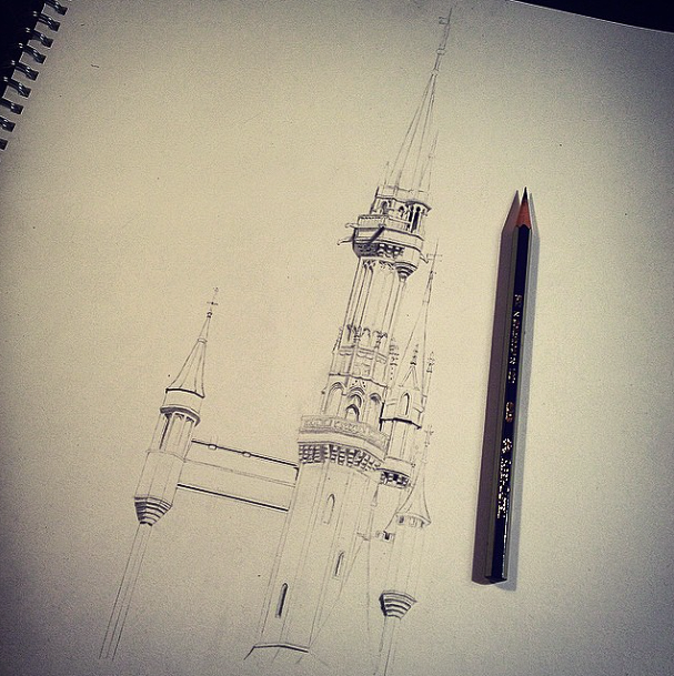 Cinderella Castle WIP - Walt Disney World by ThatArtistChick