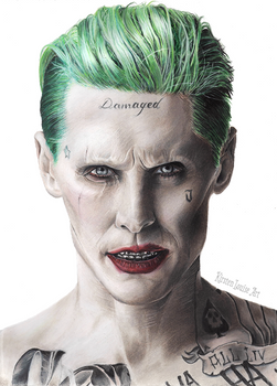 The Joker Drawing - Suicide Squad - Jared Leto