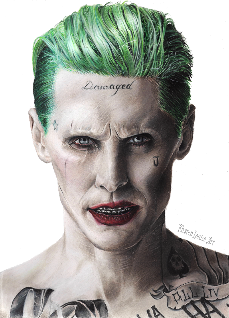 the joker drawing suicide squad jared leto by kirstenlouiseart on deviantart. Black Bedroom Furniture Sets. Home Design Ideas