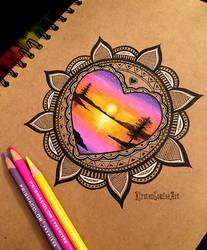 Mandala by KirstenLouiseArt