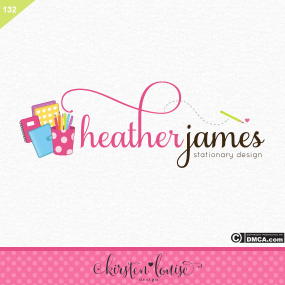 Stationary Logo Design by KirstenLouiseArt