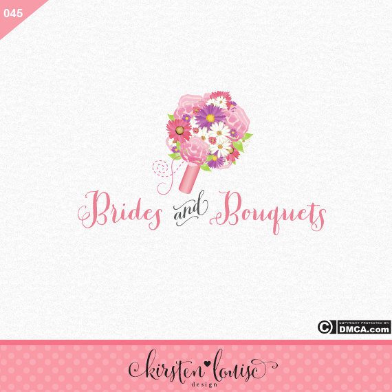 Wedding Bouquet Logo Design by KirstenLouiseArt