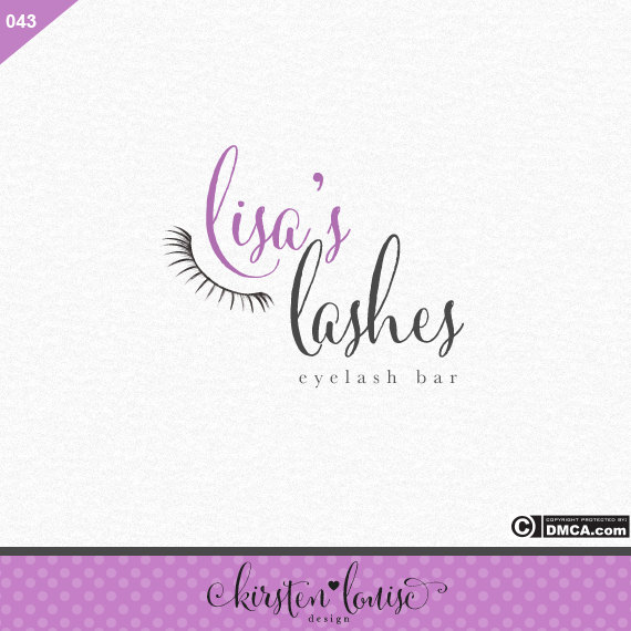 Eyelash Bar Logo by KirstenLouiseArt