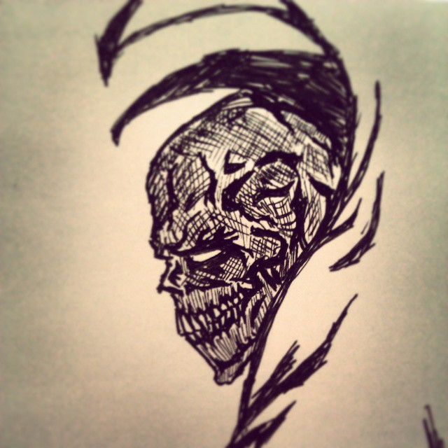 HellSpawn Head by lezerapron