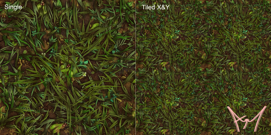 Hand Painted Tiling Grass Texture mk1 by amehroke on DeviantArt