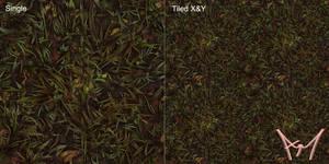 Hand Painted Tiling Grass Texture mk2