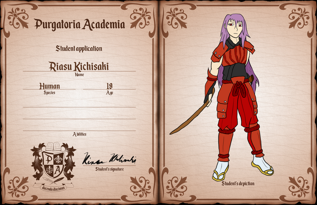 PA: date of birth Riasu Kichisaki by RasgarBlue