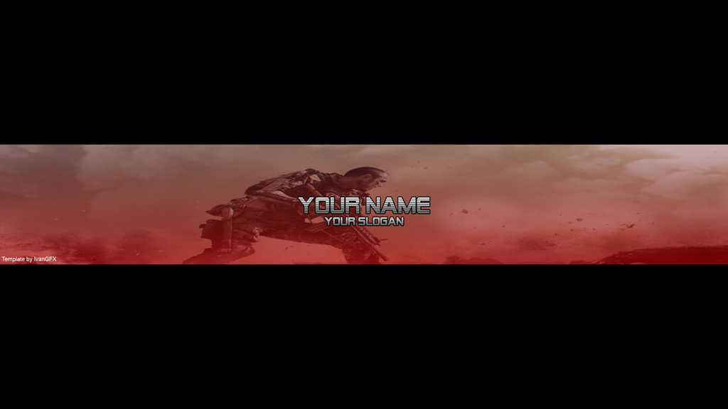 free youtube banner template by ivanv1