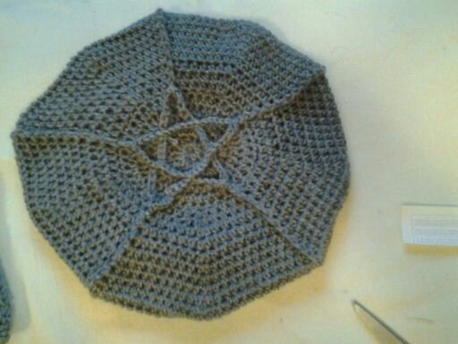 Crocheted Pentacle Slouch Hat by Moon-Crafter