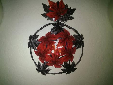 Fall Equinox wreath with lights