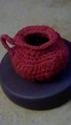 Fabric yarn basket