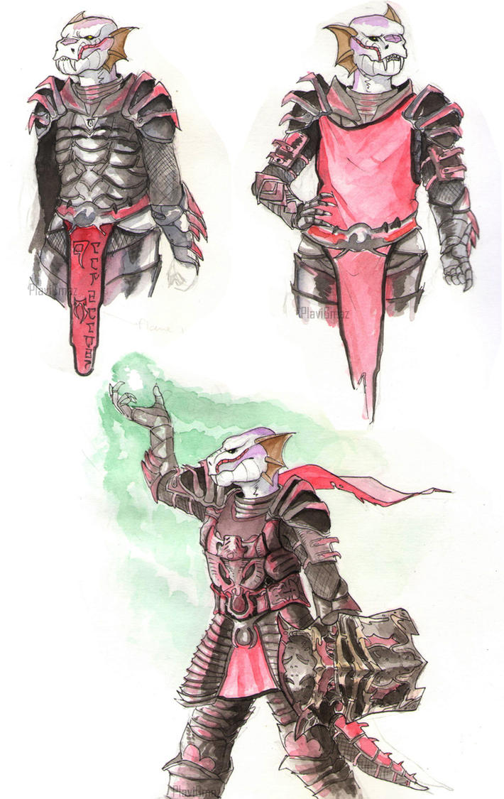 TES - Julei-Zu daedric armor by PlaviGmaz