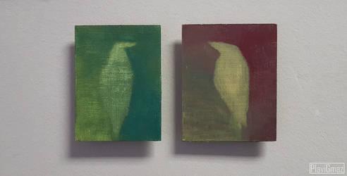 Bird diptych by PlaviGmaz