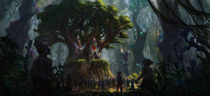 Forest throne