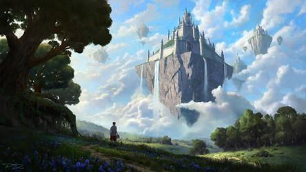 Castle in the sky by PiotrDura