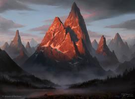 Mtg - Mountain by PiotrDura