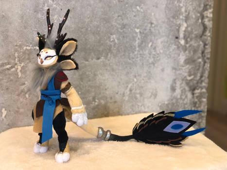 Adrsta, mythical fursona art doll
