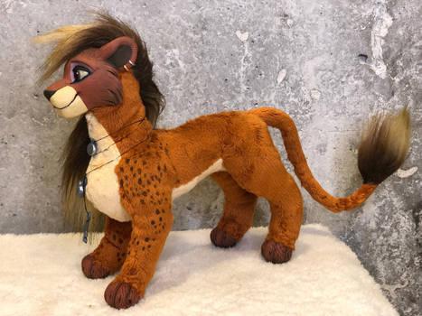 Acazia the lioness, custom order art doll