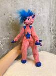 Phoenix fursona, eurasier, custom order art doll