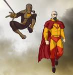 Spider-Lin and Super-Tenzin