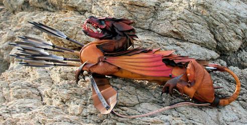Dragon on the rocks