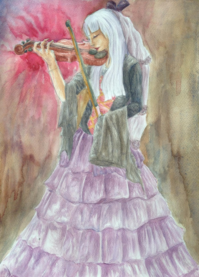 Woman with Violin by CandlelightCarnivore