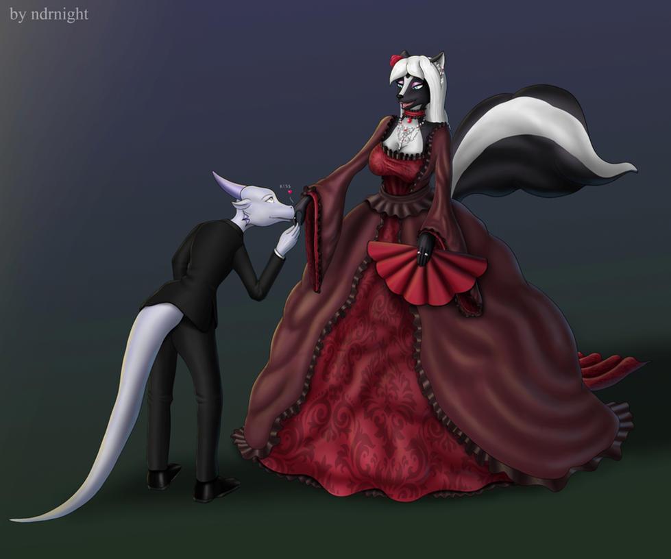 Mistress Twillight and Night the Dragon(finish) by ASKABANIUM