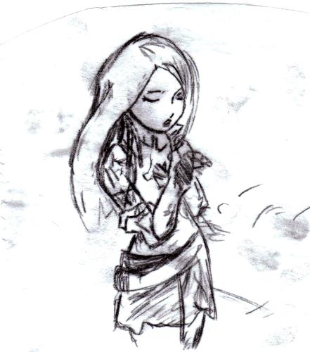 Lenne Singing.. Sketch By OnlyStormySkyz On DeviantArt