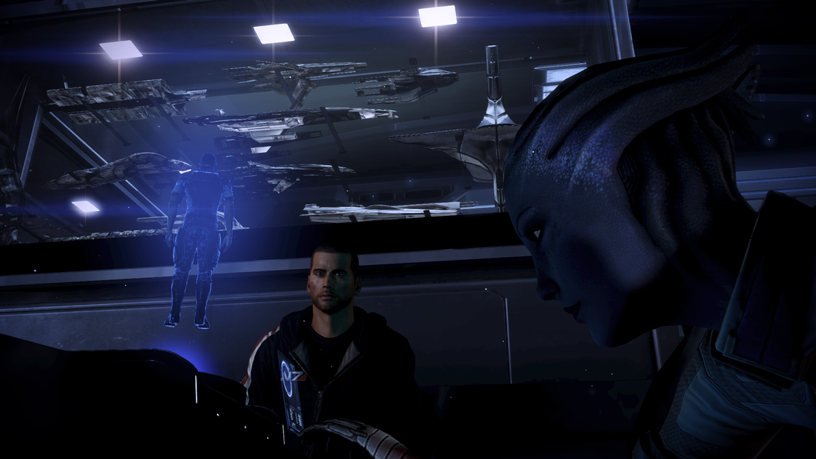 Mass Effect Shepard and Liara 1 by vatherlandMass Effect 3 Liara And Shepard