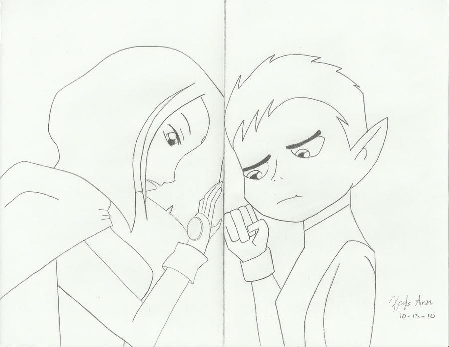 Raven And Beast Boy Wedding Raven And Beast Boy by